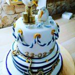 #maritime Hochzeitstorte #torteMitMöwen #SeeHochzeitstorte